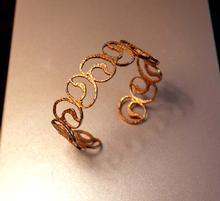 ESCLAVA de 2 cms. ampla. Plata i bany d'or rosa / groc.